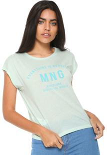 Camiseta Mng Barcelona Tlogo Verde