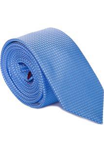 Gravata Mini Flores Poá - Azul