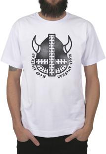 Camiseta Bleed American Vickings Branca