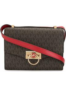 Michael Michael Kors Extra Small Hendrix Crossbody Bag - Marrom