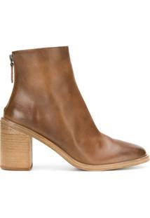 Marsèll Ankle Boot Com Zíper Posterior - Marrom