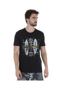 Camiseta Rusty Bc Crucify - Masculina - Preto