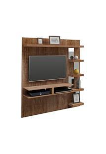 Painel Para Tv Com Bancada Premium Canela - Artely