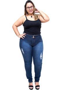Calça Jeans Credencial Plus Size Skinny Lisarua Azul - Kanui