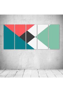 Quadro Decorativo - Minimalism - Composto De 5 Quadros - Multicolorido - Dafiti