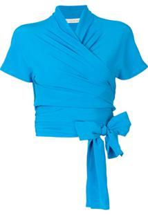 Etro Blusa De Seda - Azul