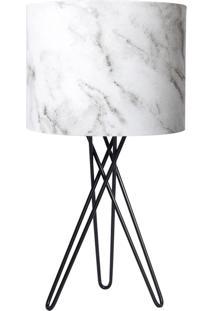 Abajur Carambola Marble Branco - Branco - Dafiti