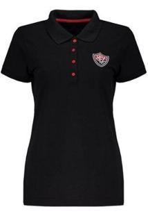 Camisa Polo Vitória Escudo Feminina - Feminino