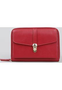 Bolsa Transversal Feminina Pequena Estilo Carteira Vermelha - Único