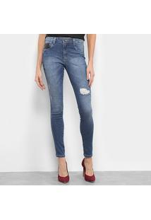 43d5f3fec R$ 99,99. Zattini Calça Azul Feminina Melissa Biotipo Jeans Skinny Cintura  Media ...