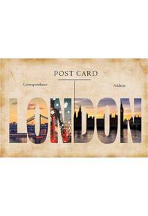 Placa Decorativa Post Card London Colorida