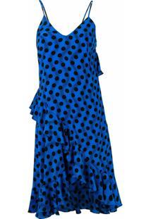 Kenzo Vestido Com Poás - Azul