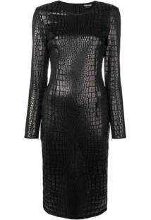 Tom Ford Scale Effect Fitted Dress - Preto