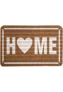 Capacho Carpet Home Marrom Único Love Decor