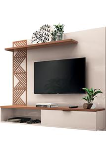"Home Suspenso Grid Para Tvs Até 50"" Off White/Nature"