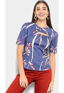 Blusa Morena Rosa Dupla Face Feminina - Feminino-Azul+Vermelho