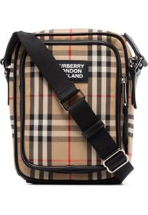 Burberry Freddie Vintage Check Pouch Bag - Neutro