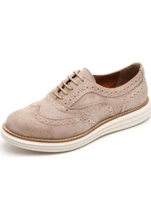 Sapato Oxford Casual Yes Basic 300 Areia