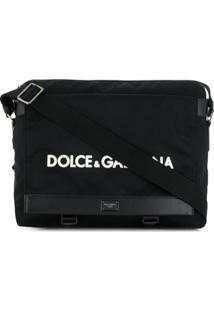 Dolce & Gabbana Bolsa Tiracolo Com Logo - Preto