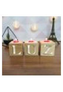 Cubo Decorativo Com Velas E Letras Em Acrílico Luz Único