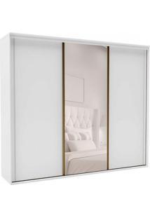 Guarda-Roupa Casal Com Espelho Inovatto L 3 Pt 6 Gv Branco