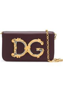 Dolce & Gabbana Bolsa Tiracolo Com Placa De Logo Dg - Vermelho
