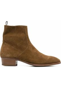Represent Ankle Boot De Camurça - Marrom