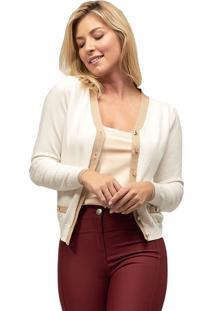 Cardigan Tricot Mx Fashion Lila Off White