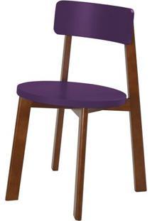 Cadeira Lina Cor Cacau Com Roxa - 31534 - Sun House