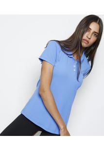 Polo Flow® Com Logo- Azul Claro- Filafila