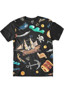 Camiseta Long Beach Náutica Elementos Piratas Sublimada Masculina - Masculino