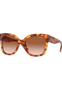Óculos De Sol Vogue Eyewear 0Vo5338S Feminino - Feminino-Marrom Claro