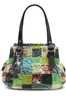 Bolsa Giulianna Clover Em Patchwork Original - Multicolorido - Feminino - Dafiti