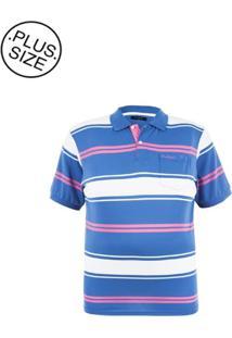 Polo Plus Size Blue Fashion