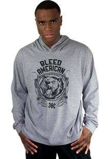 Blusa Bleed American Grizzly Cinza Mescla