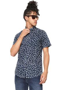 Camisa Billabong Reta Sunday Mini Azul-Marinho