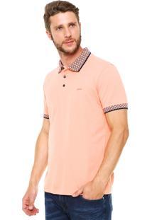 Camisa Polo Colcci Comfort Coral
