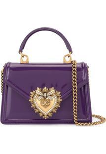 Dolce & Gabbana Bolsa Devotion Pequena - Roxo