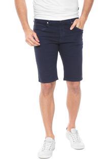 Bermuda Sarja Wrangler Slim Color Azul-Marinho