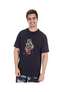 Camiseta Hurley Silk Tred Light - Masculina - Preto