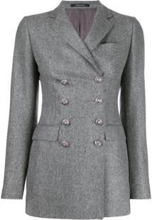 Tagliatore Double-Breasted Blazer Jacket - Cinza