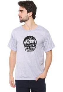 Camiseta Talismã Store Eco Canyon Van Love Masculina - Masculino-Cinza