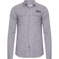 Camisa Calvin Klein Tricoline masculina  edcc19c41e9fc