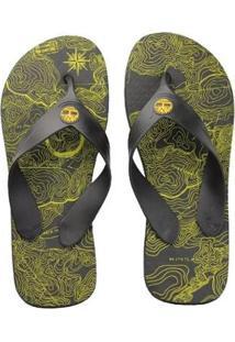 Chinelo Timberland Graphic Masculino - Masculino-Preto+Amarelo