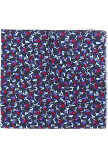 Lanvin Echarpe Com Padronagem - Azul