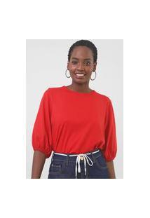 Camiseta Triton Mangas Bufantes Vermelha