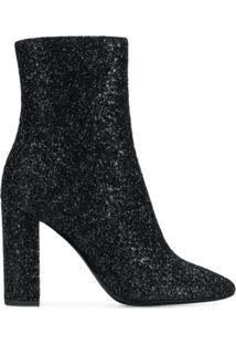 Saint Laurent Ankle Boot Com Zíper Lateral - Preto
