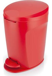 Lixeira De Polipropileno Com Pedal Izy 12 Litros Vermelha Ou