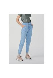 Calça Feminina Super Alta Slouchy Em Jeans