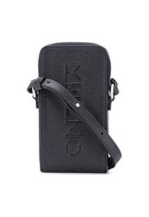 Kenzo Logo Embossed Mini Bag - Preto